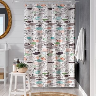 Ithaca Cotton Printed Single Shower Curtain