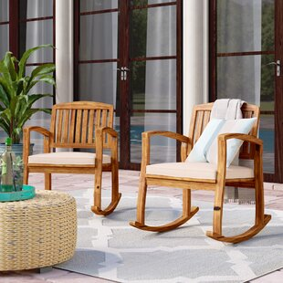 Gentil Coyne Acacia Rocking Chair (Set Of 2)