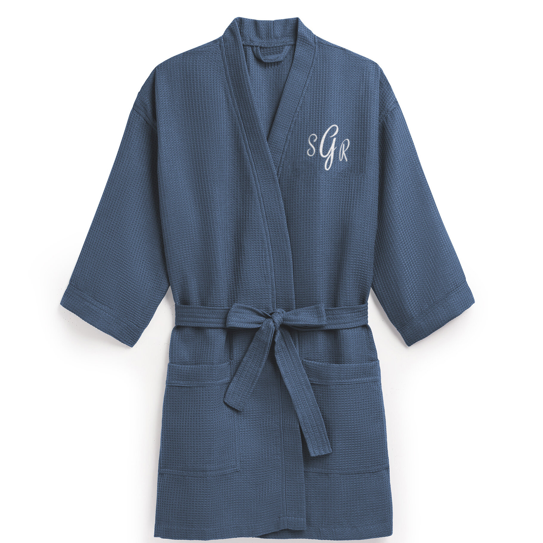 a6bc3d0205 Personalized Embroidered Waffle Spa Bathrobe