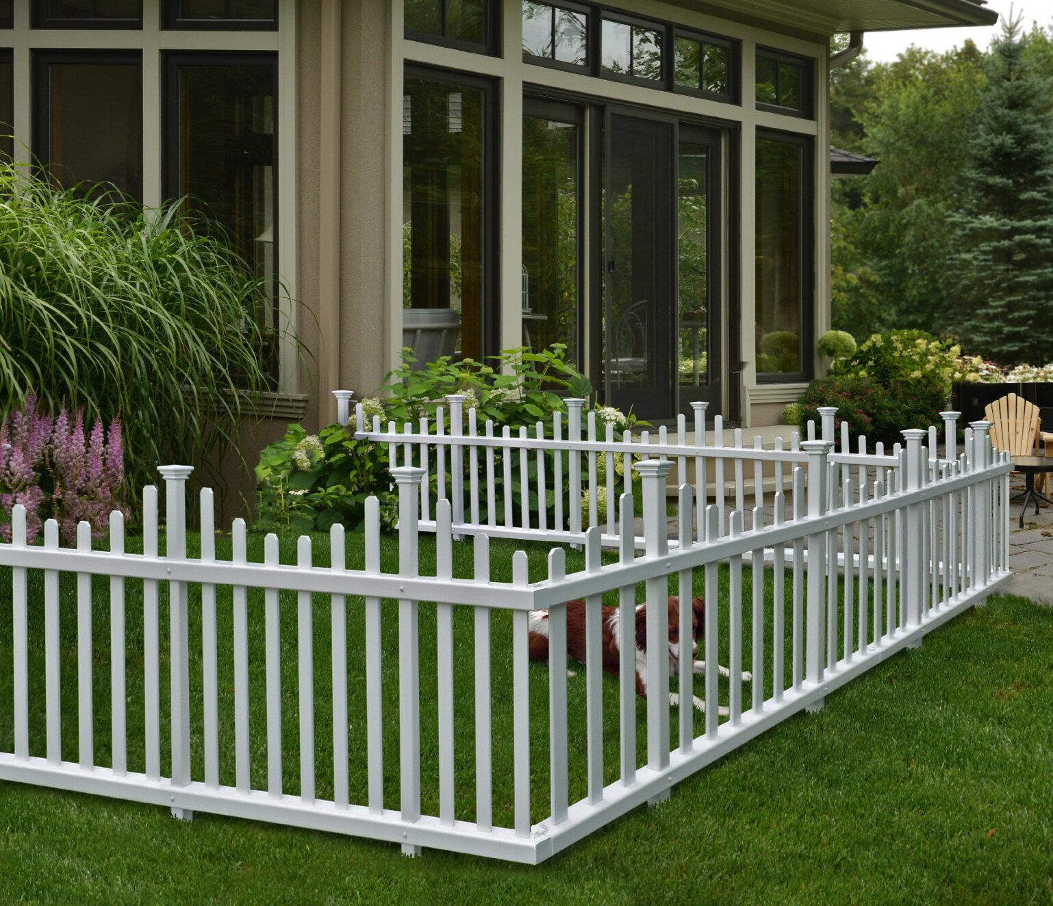 vinyl picket fence front yard. Madison No Dig Vinyl Picket Garden Fence Panel (Set Of 2) Front Yard