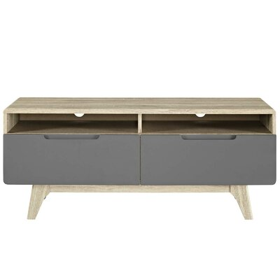 Brayden Studio Coledale TV Stand for TVs up to 50 Color: Natural-Gray
