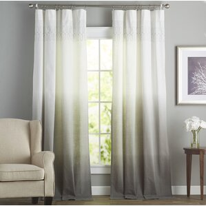 Arashi Solid Semi Sheer Rod Pocket Single Curtain PanelCurtains   Drapes You ll Love   Wayfair. Curtains Living Room. Home Design Ideas