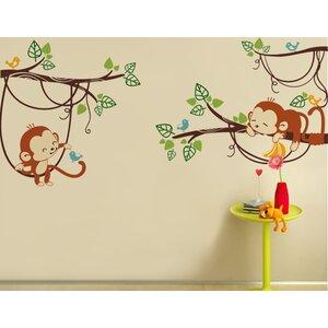 Adorable Monkeys Wall Decal