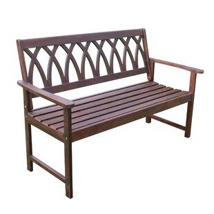Creekmore Criss Cross Wood Garden Bench