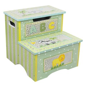 Safari Crackle Step Stool with Storage by Fantasy Fields