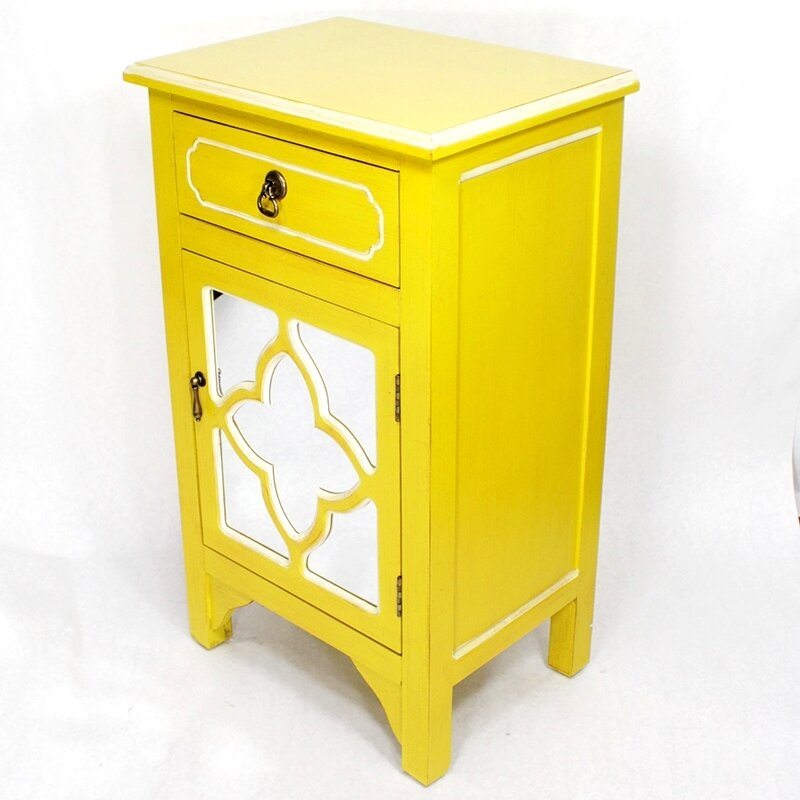 Heather Ann Wooden Accent Cabinet With 1 Drawer And 1 Door