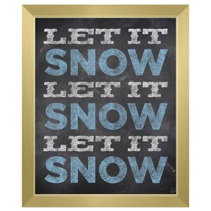 'Let it Snow Trio - Ice Chalked' Framed Textual Art