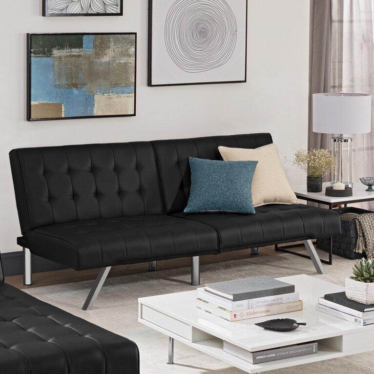 Wade Logan Littrell Convertible Sofa Amp Reviews Wayfair