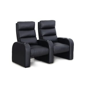 Manual Rocker Recline Home Theater Row Seating (Row of 2) by Freeport Park