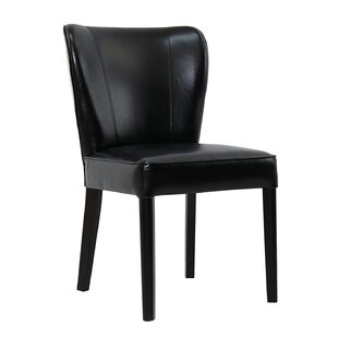 Bruyning Dining Genuine Leather Upholstered Dining Chair
