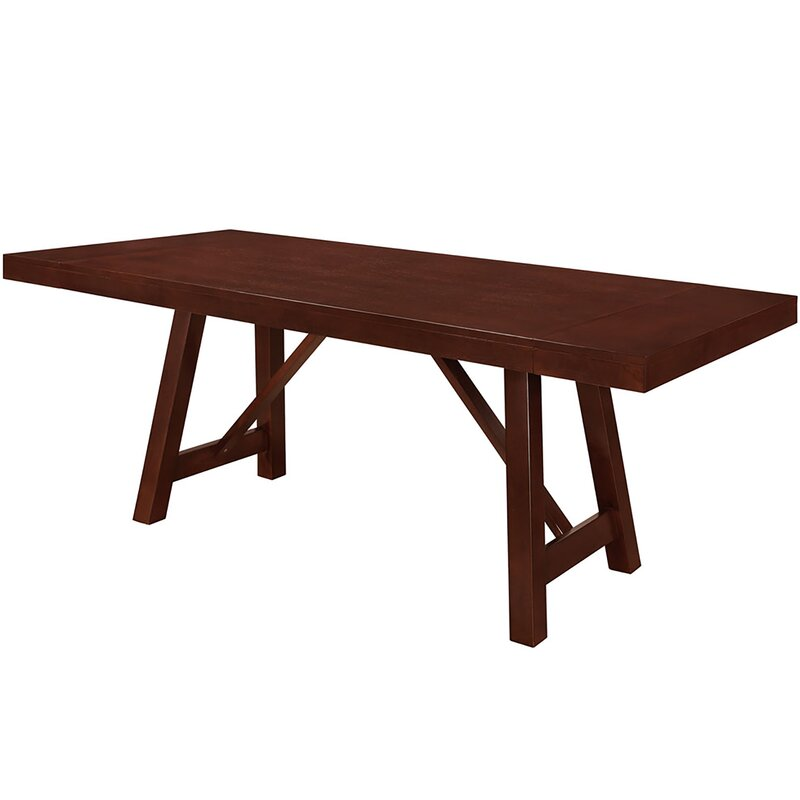 chiswick solid wood trestle extendable dining table - Extendable Wooden Dining Table