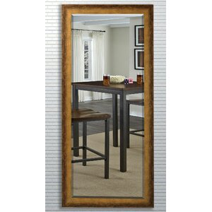 Beveled Brown Wall Mirror