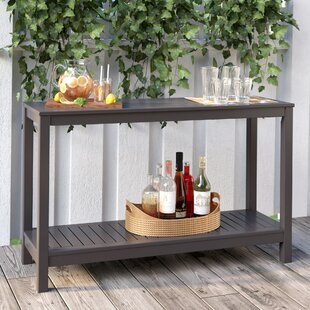 Outdoor console table Wicker Carey Console Table Wayfair Outdoor Console Tables Youll Love Wayfair