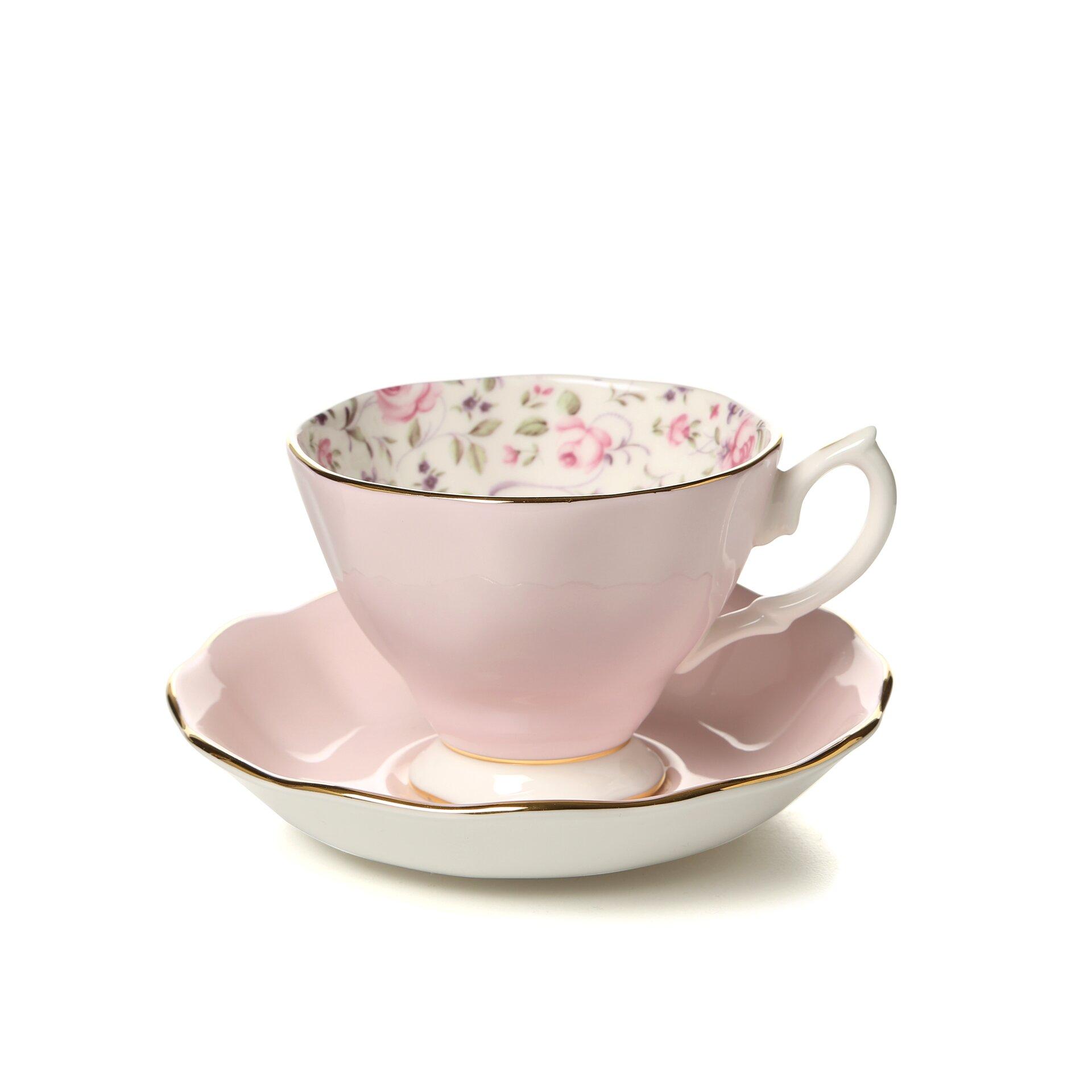 Royal Albert Rose Confetti Formal Vintage Teacup and  ~ Geschirr Vintage