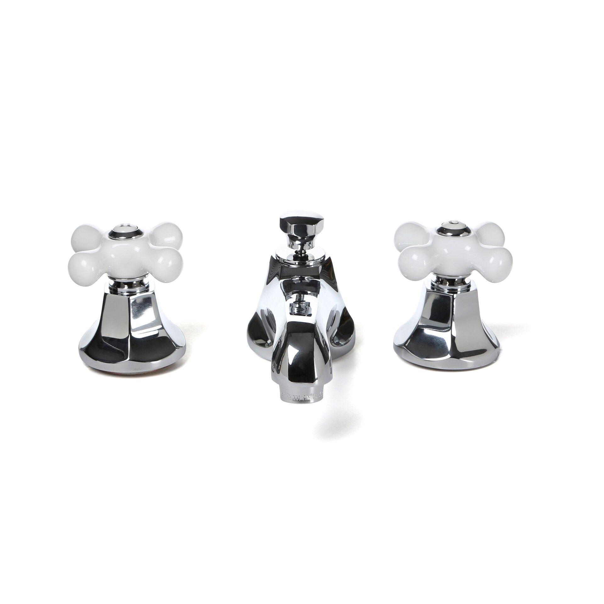 Cross Handle Bathroom Faucet Elements Of Design Metropolitan Widespread Bathroom Faucet With