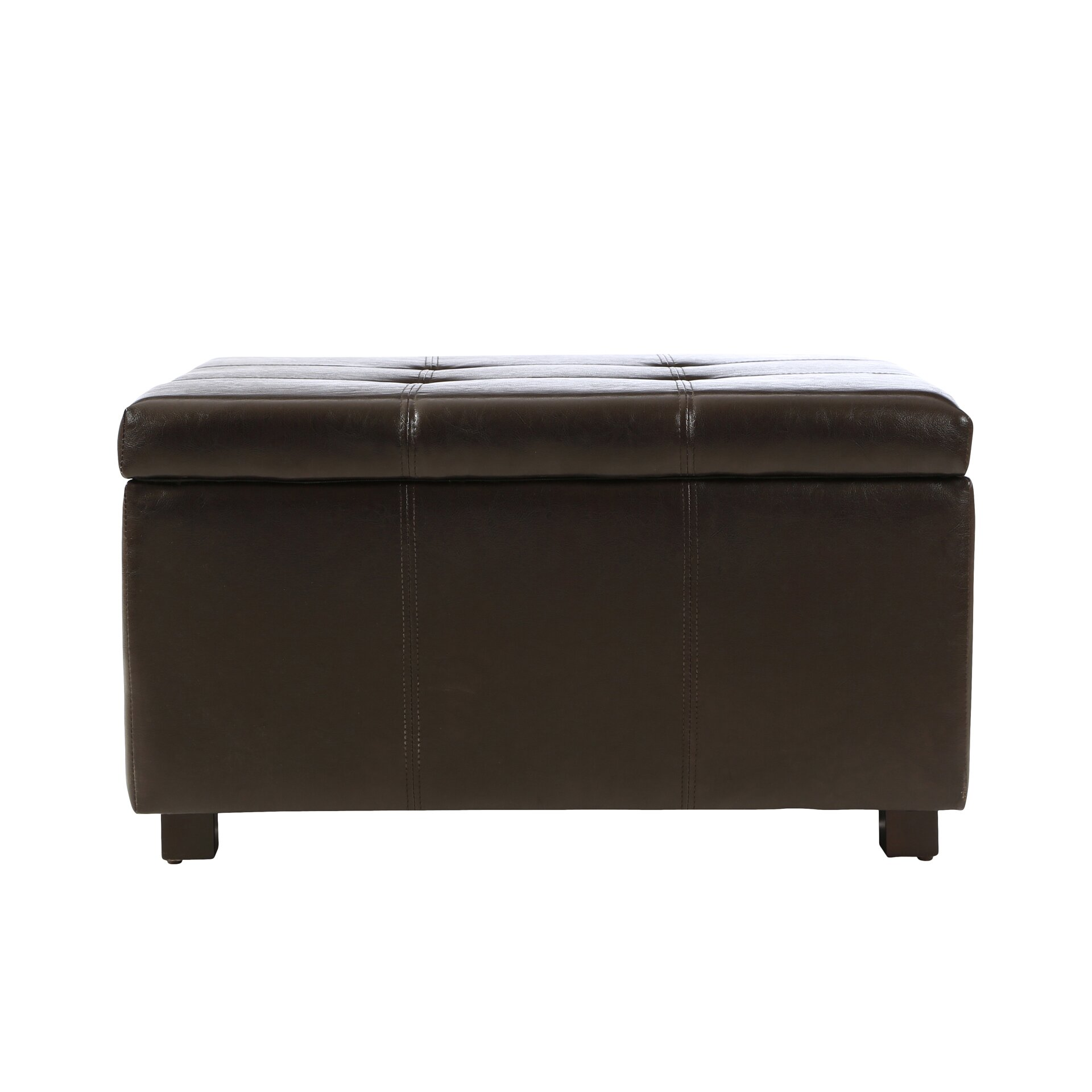 Three Posts Polycarp Storage Ottoman Reviews: Three Posts Ehlert Storage Leather Ottoman & Reviews
