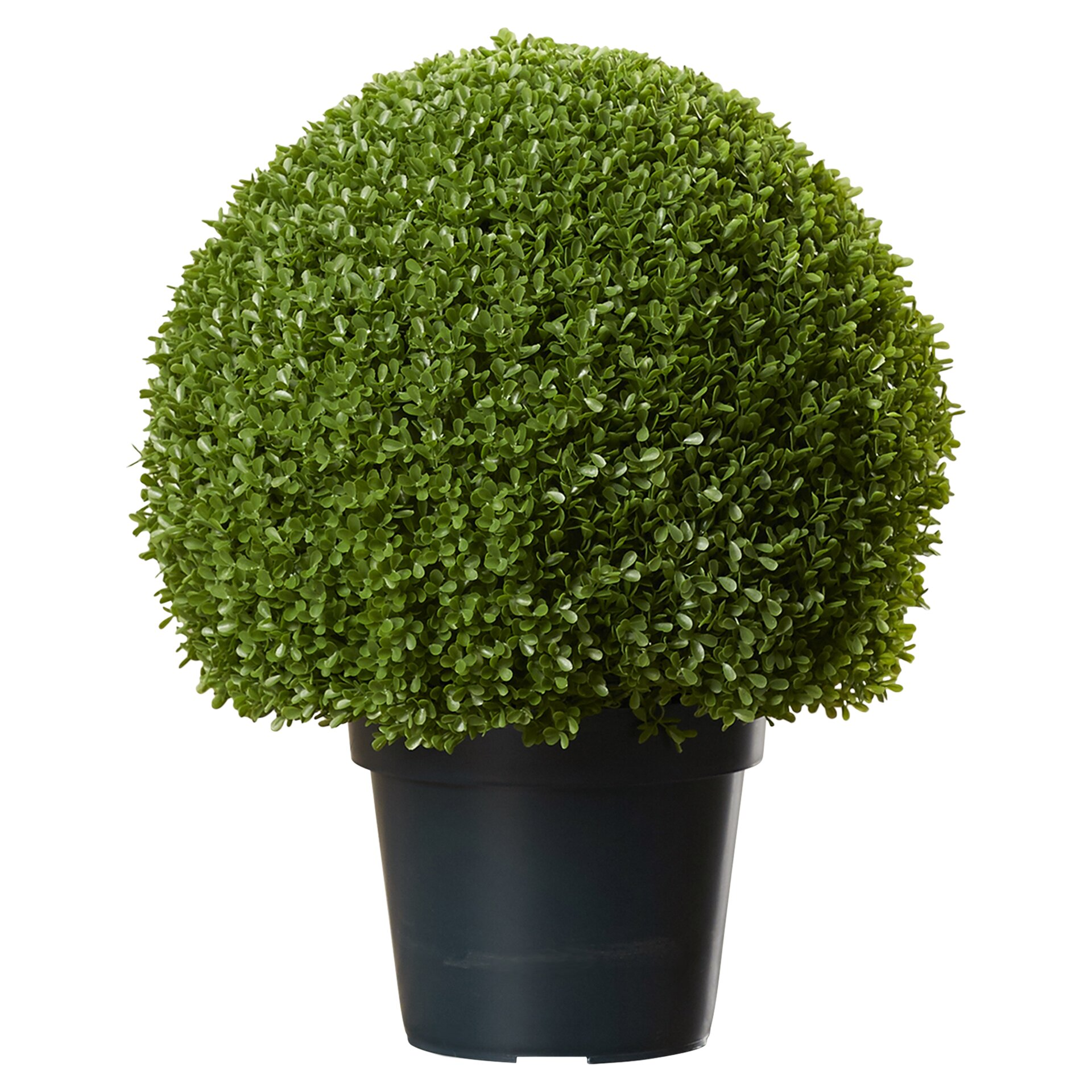 Artificial plants for kitchen - Faux Round Boxwood Topiary In Pot
