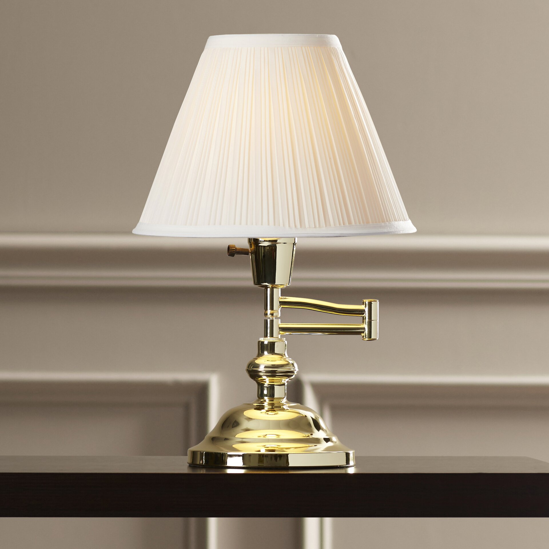 "Alcott Hill Augusta Swing Arm 16"" Table Lamp & Reviews ..."