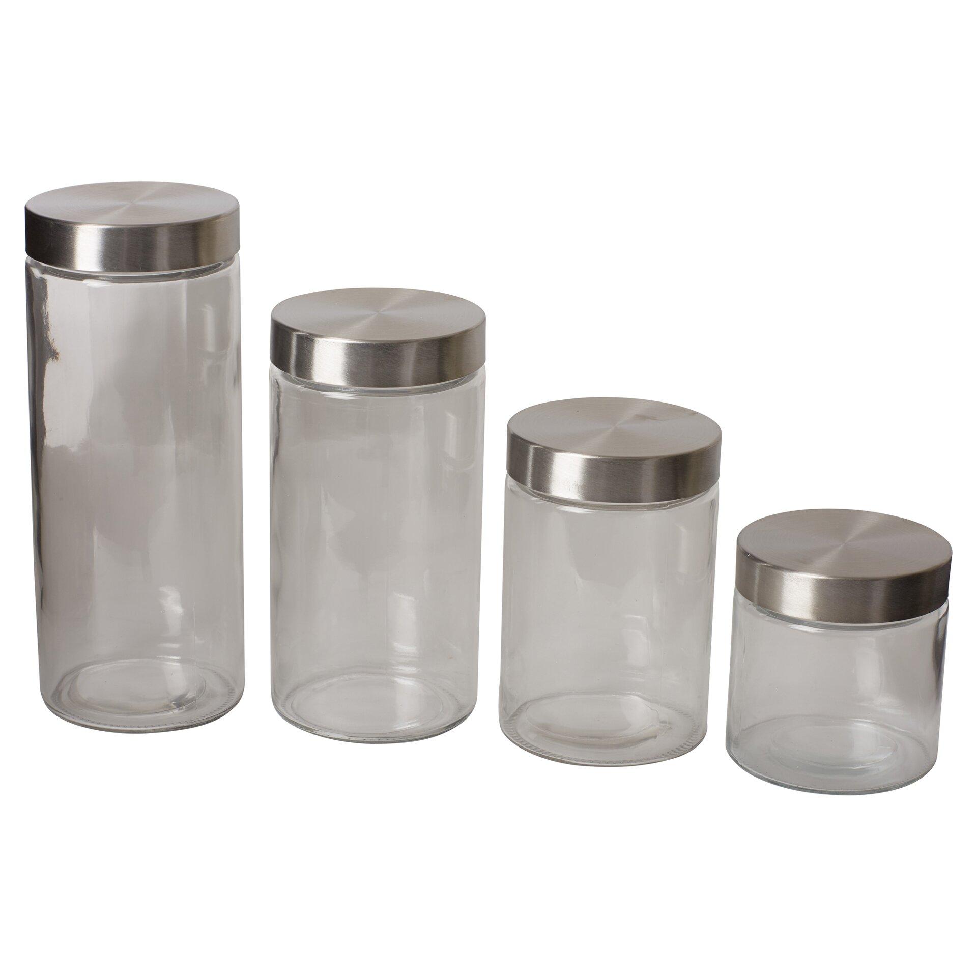 28 4 piece kitchen canister sets vintage kitchen canisters 4 piece kitchen canister sets wayfair basics wayfair basics 4 piece kitchen canister