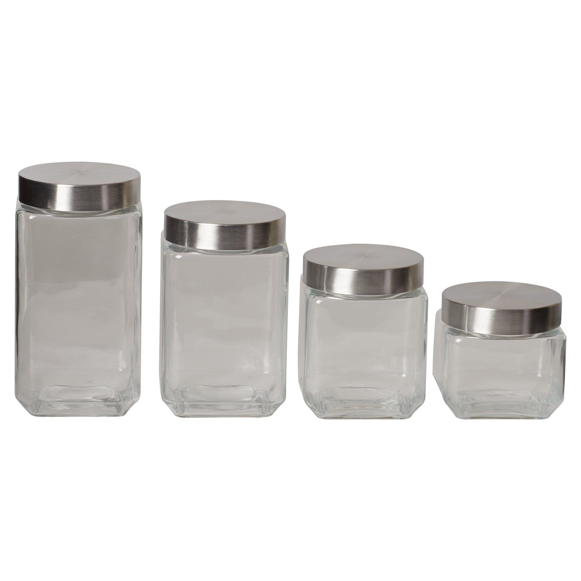 wayfair basics wayfair basics 4 piece kitchen canister