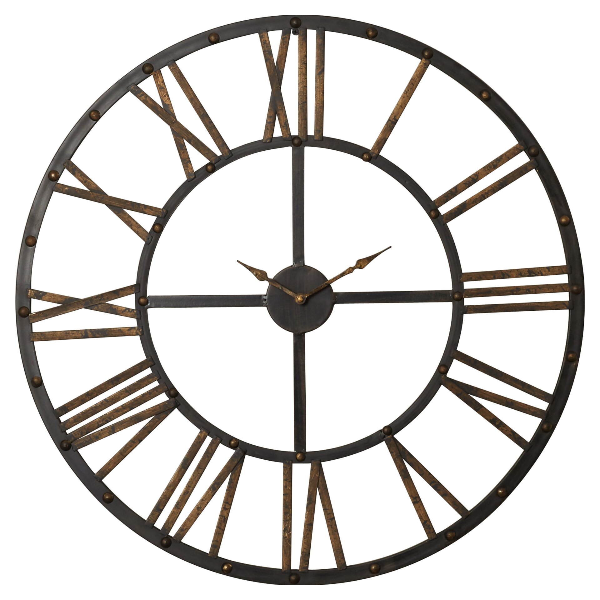 Exeter Round Oversized Wall Clock & Reviews | Joss & Main
