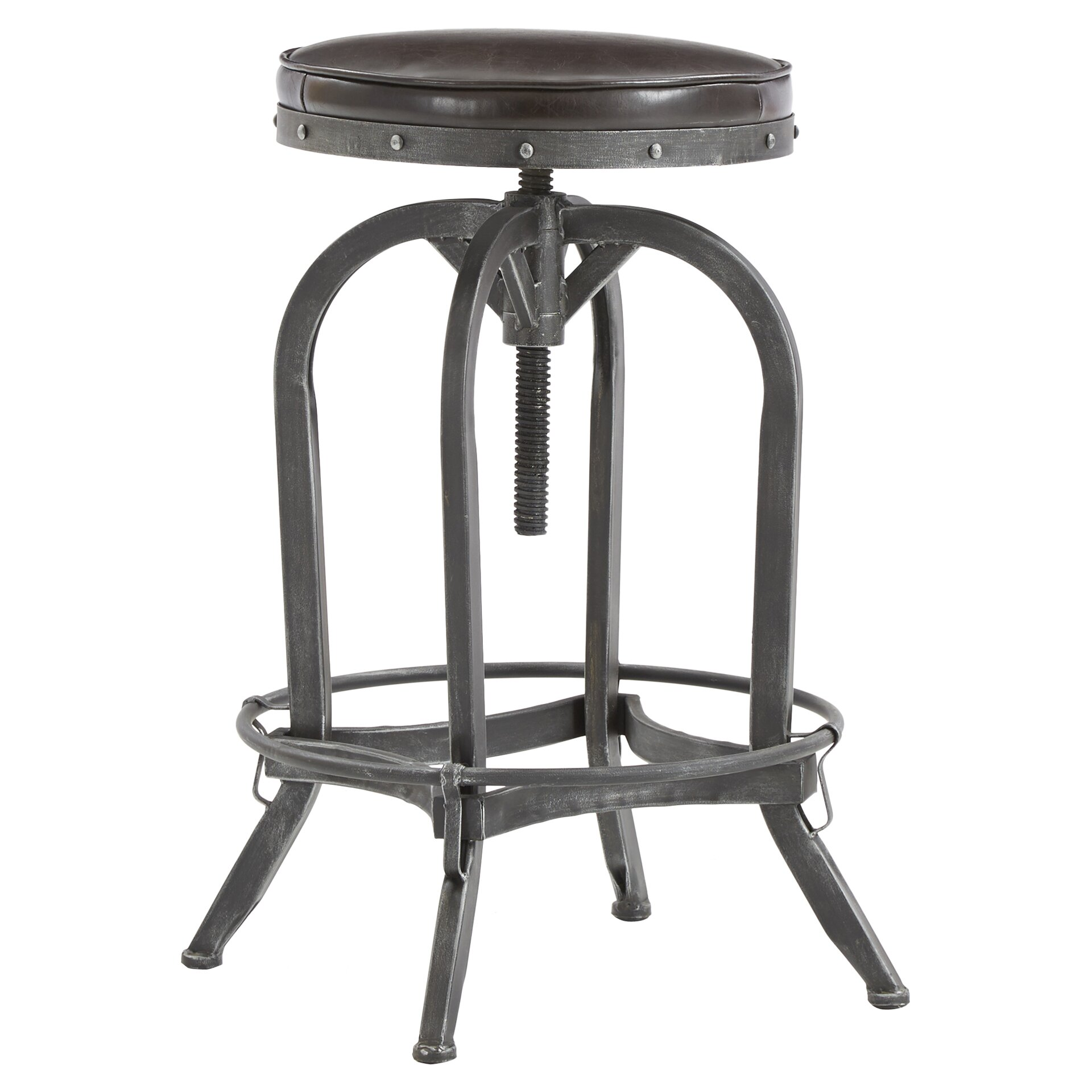 Adjustable Height Swivel Bar Stool Amp Reviews Allmodern