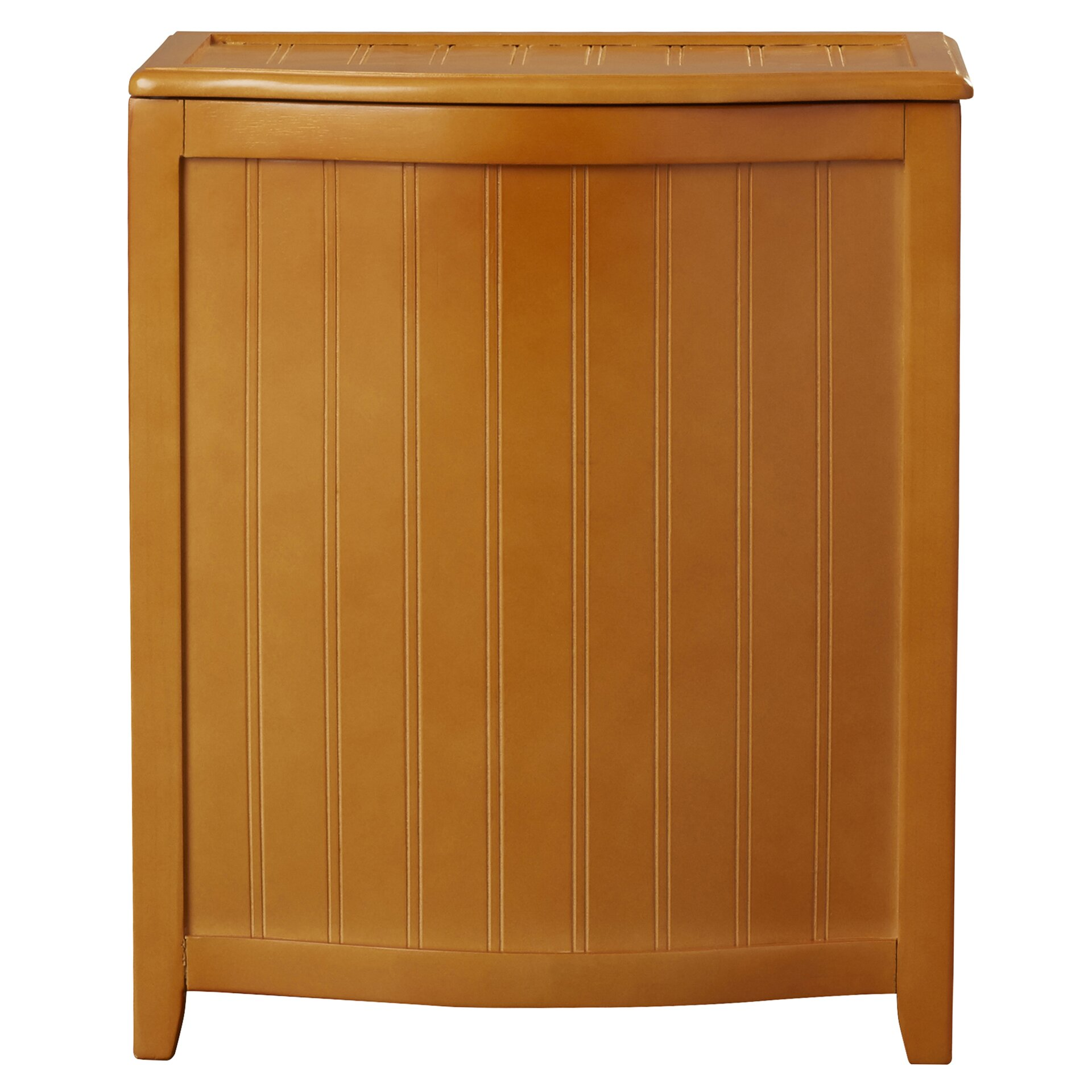 Darby Home Co Flip Lid Wood Cabinet Laundry Hamper