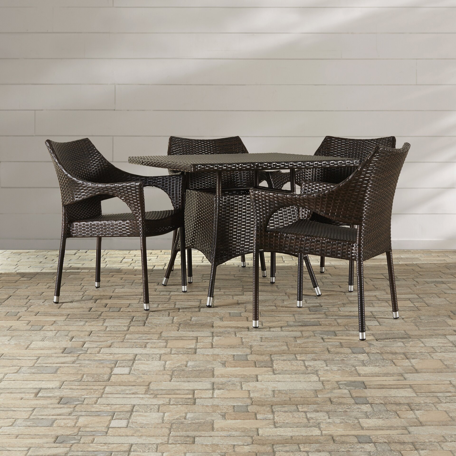 Beachcrest Home Marshfield 5 Piece Dining Set Reviews