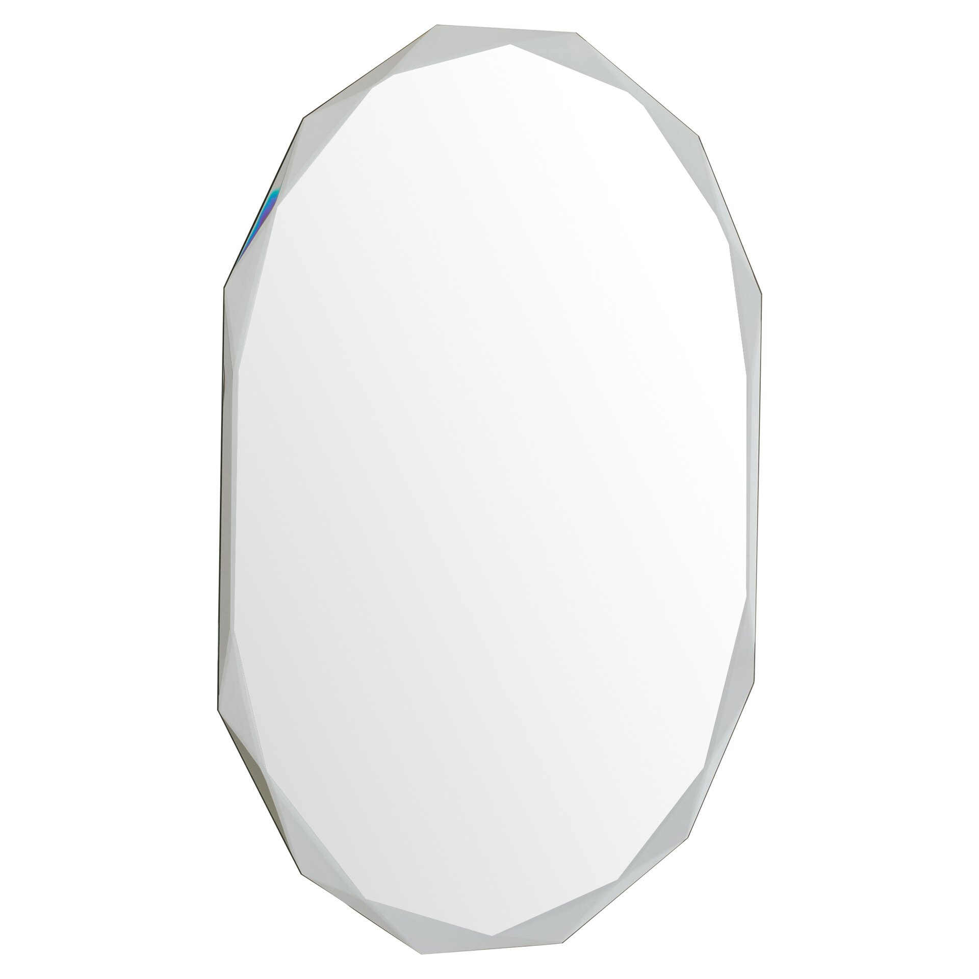 Frameless Magnifying Glasses : Frameless Diamond Wall Mirror & Reviews Birch Lane