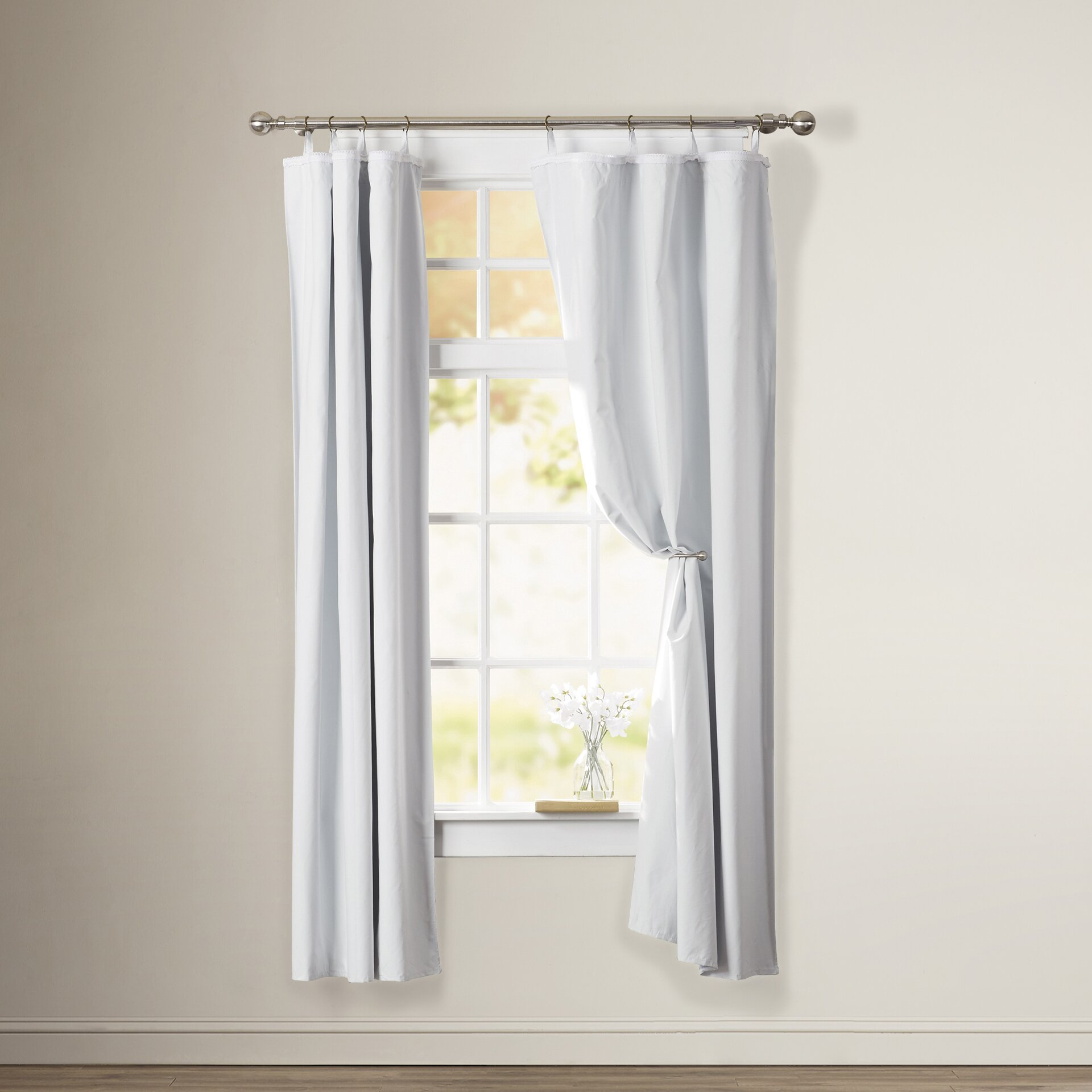 doris blackout grommet single curtain panel liner