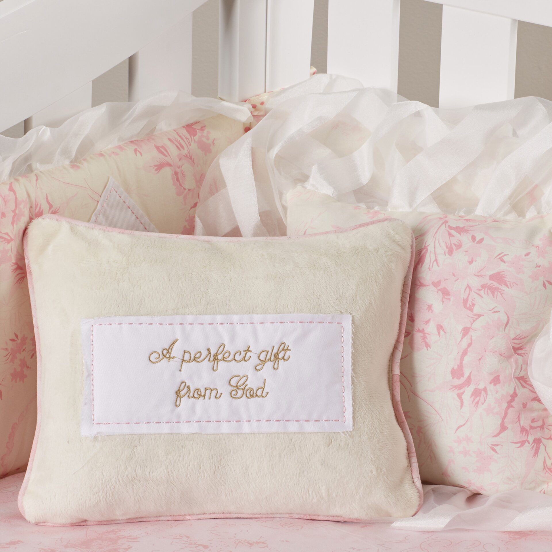 lizzie pillow pack floral pattern nursery bedding poly fiber home