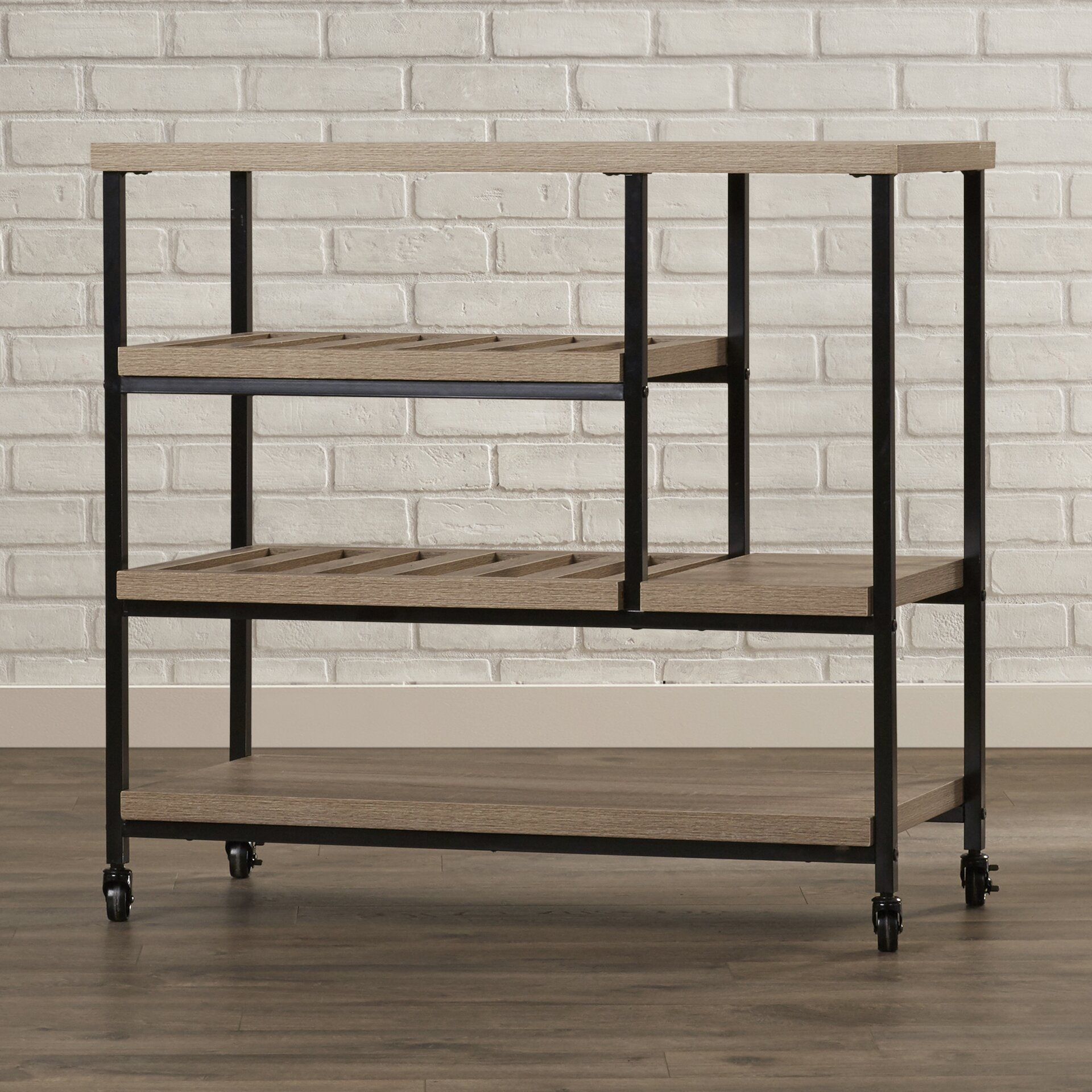 Bryant Mobile Kitchen Cart: Mercury Row Comet Kitchen Cart With Wooden Top & Reviews