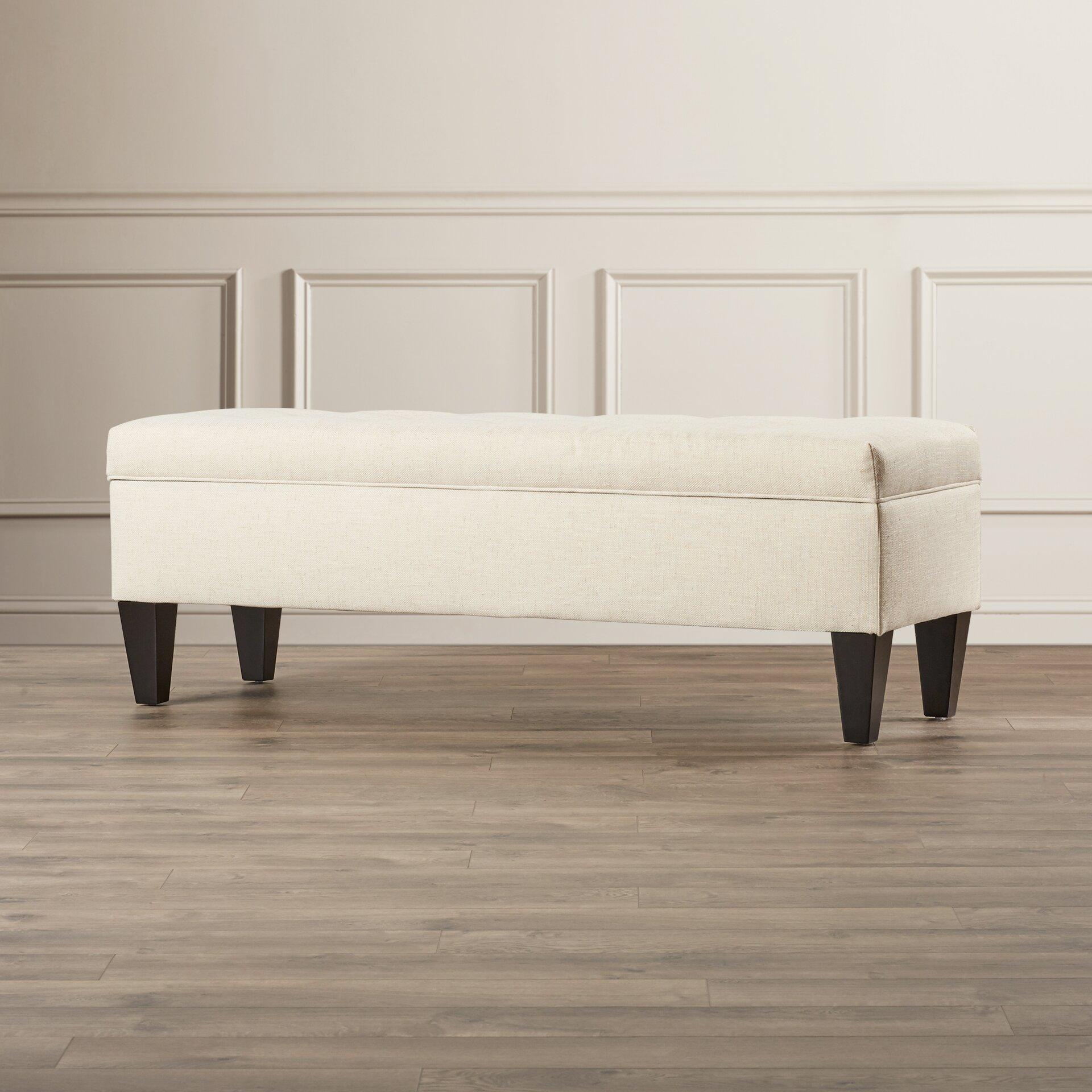 Varian Upholstered Storage Bedroom Bench Birchlane: Tusarora Fabric Storage Bedroom Bench & Reviews