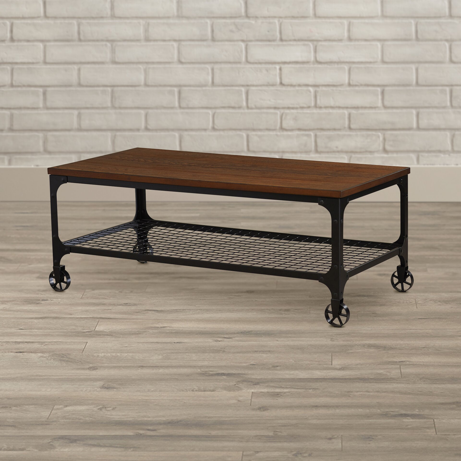 Industrial Coffee Table Images: Mercury Row Corvus Rectangle Industrial Coffee Table
