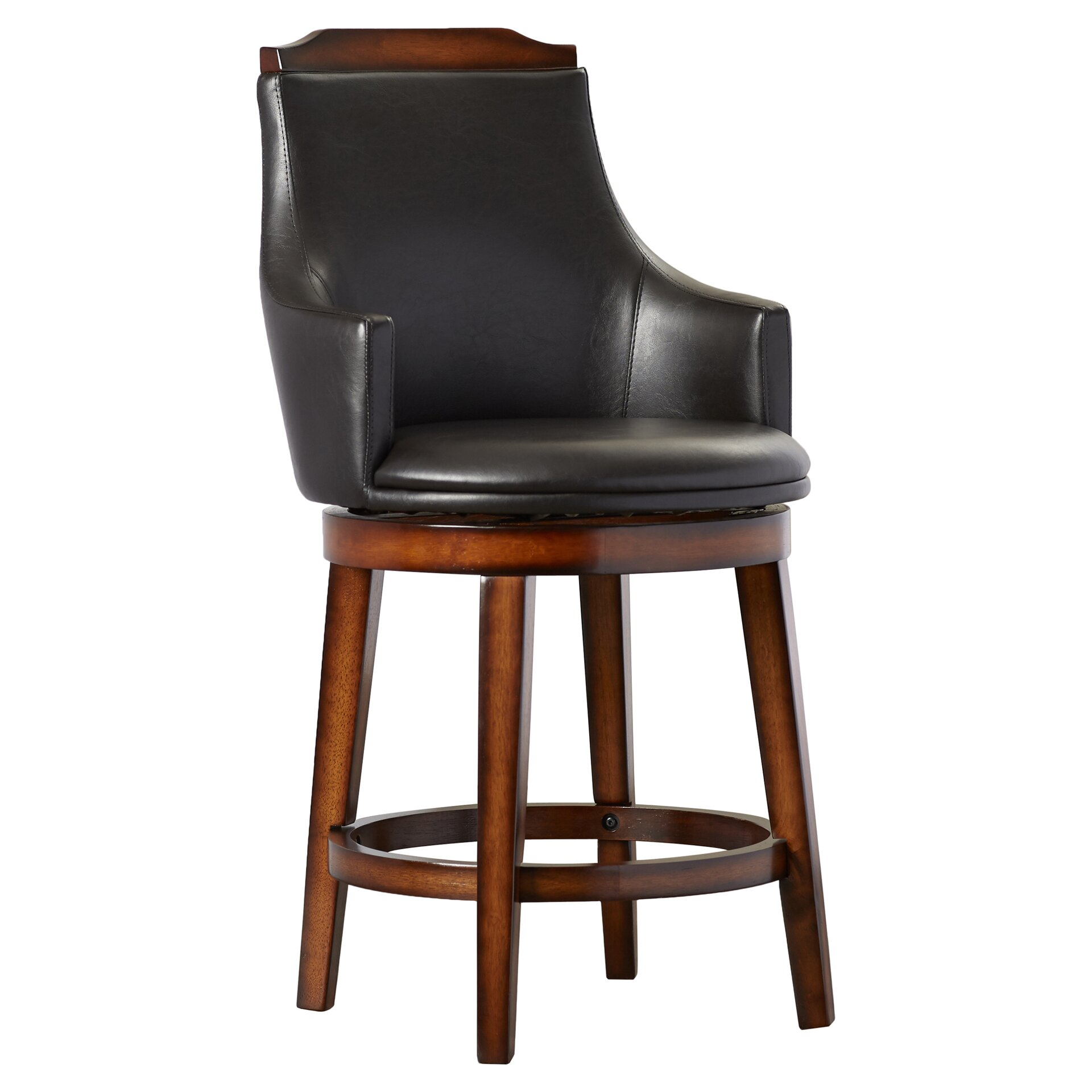 Alcott Hill Edward 24 Quot Swivel Bar Stool With Cushion