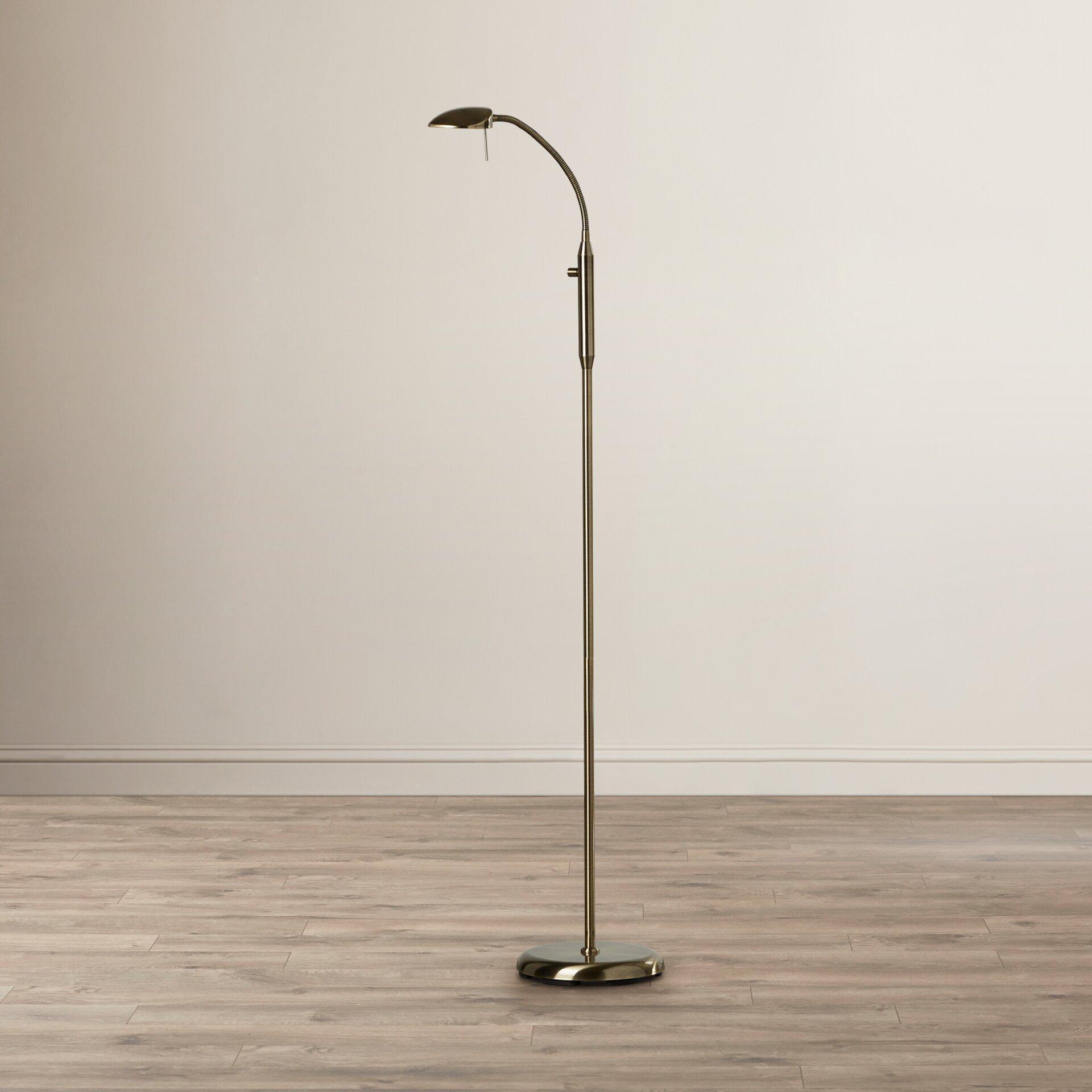 Riley ave tereza gooseneck 138cm reading floor lamp reviews - Gooseneck floor lamps for reading ...