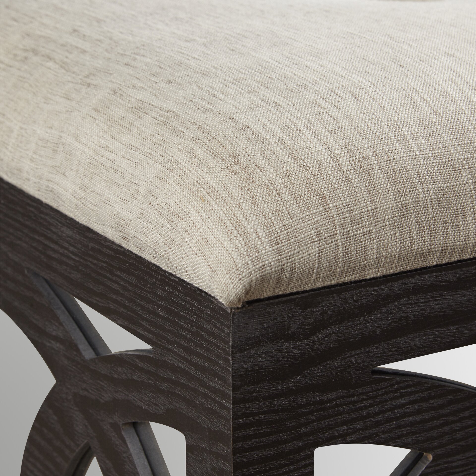 Coffee table with nesting ottomans - Yarm Mirrored Square Nesting Ottoman