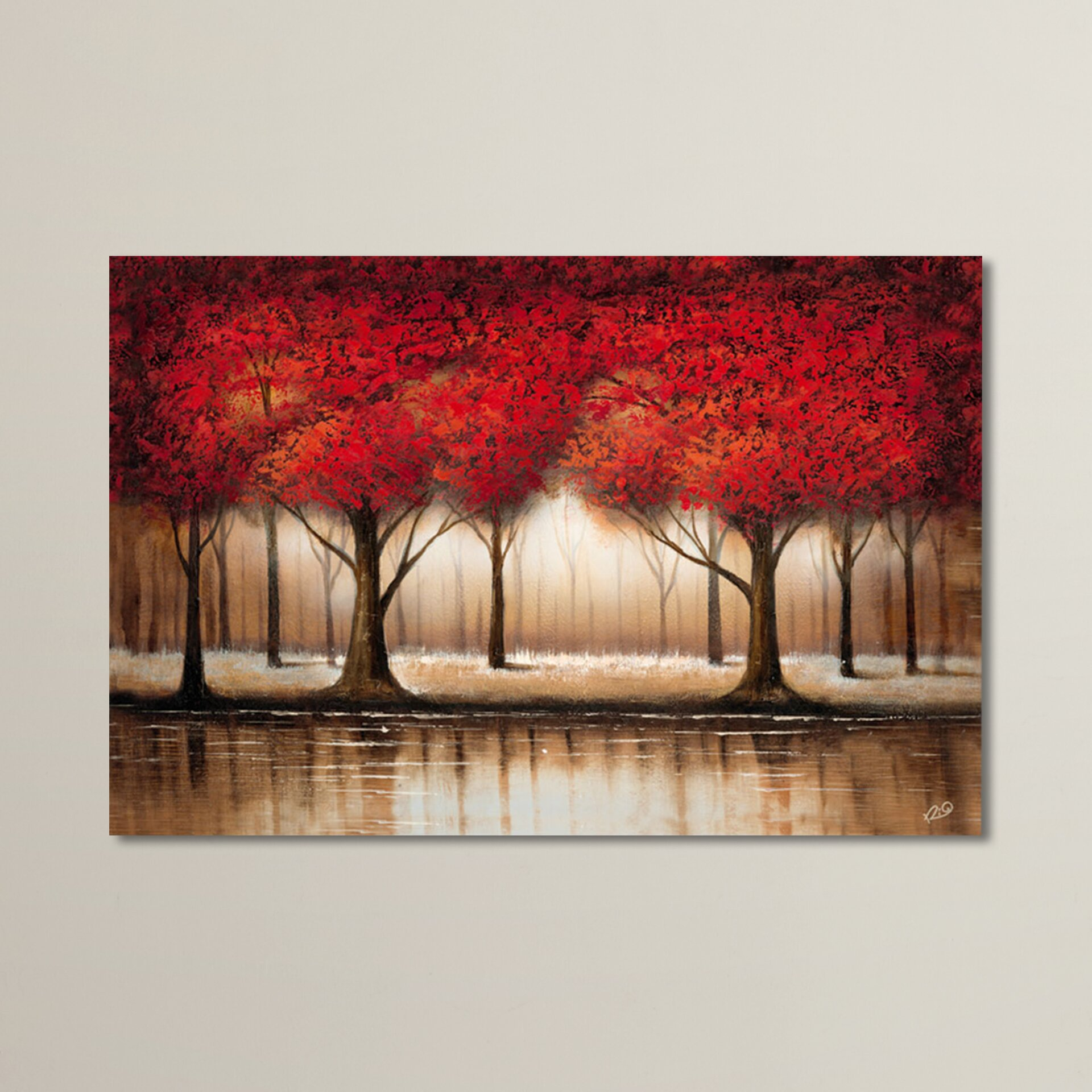 Trademark Art 39 Parade Of Red Trees 39 On Canvas Reviews