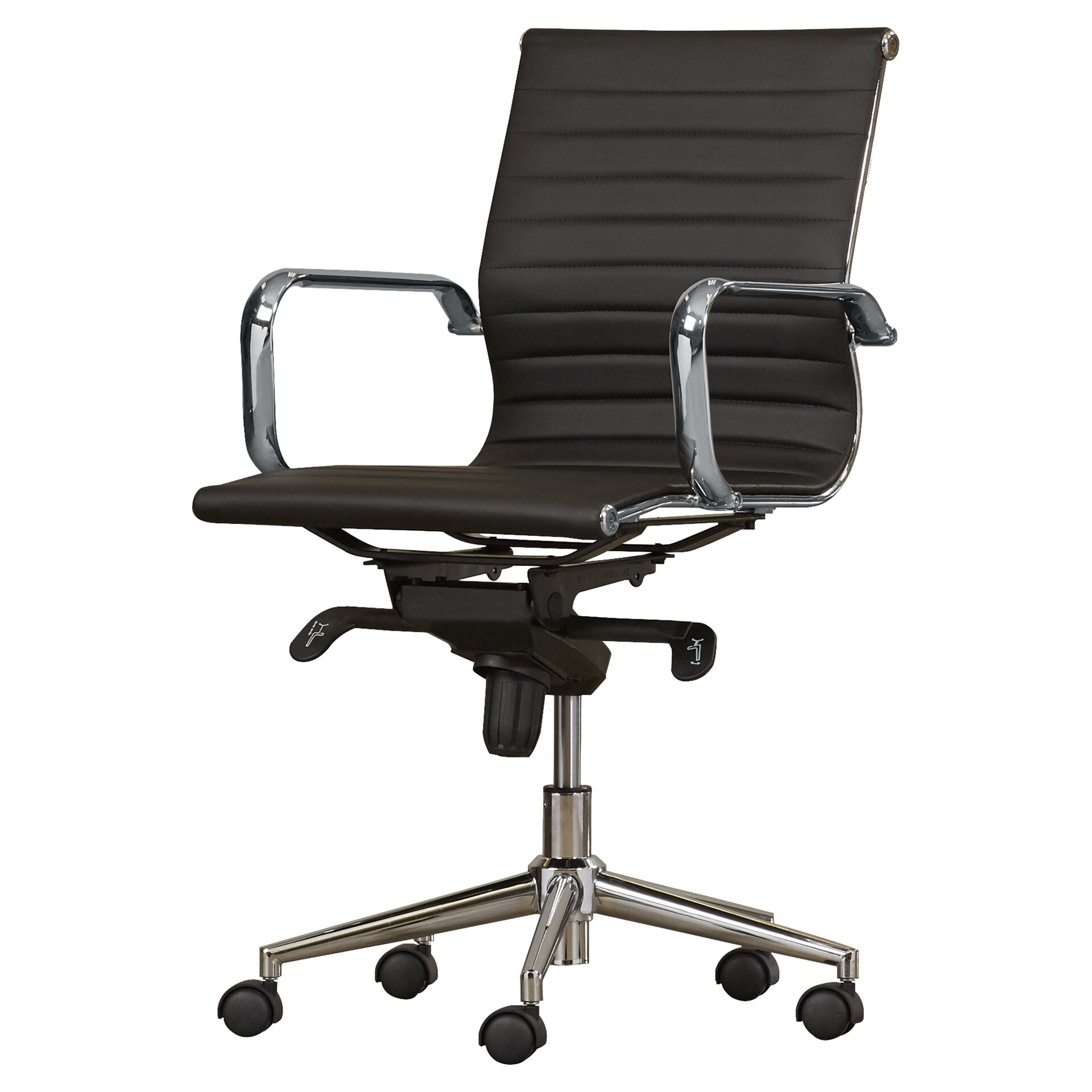 Black and white office chair - Annabell Mid Back Desk Chair