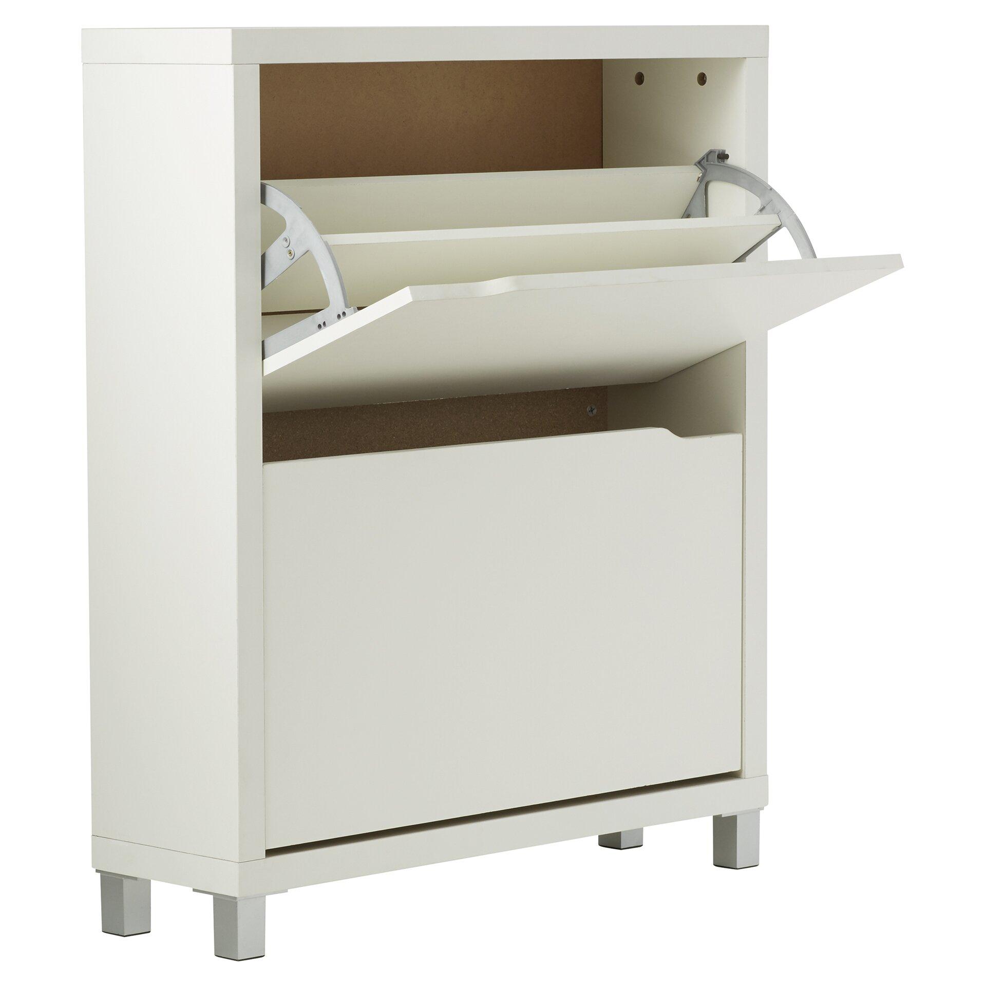 12 pair white shoe storage cabinet reviews allmodern. Black Bedroom Furniture Sets. Home Design Ideas