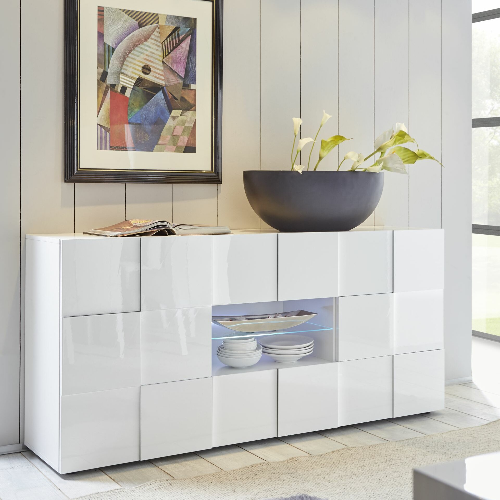 tft home furniture sideboard chequers. Black Bedroom Furniture Sets. Home Design Ideas
