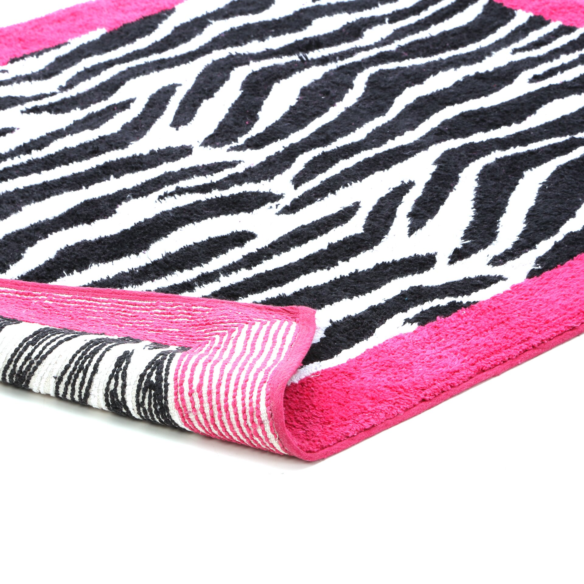 Sweet Jojo Designs Zebra Floor Pink Area Rug & Reviews