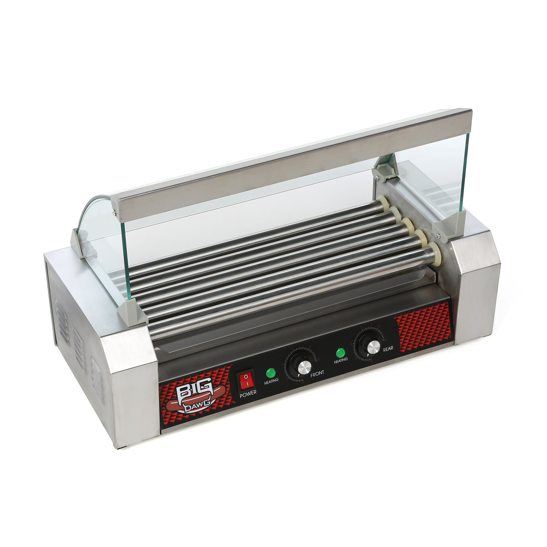Uncategorized Hot Dog Cookers Specialty Kitchen Appliances great northern popcorn big dawg commercial 5 roller hot dog machine with cover