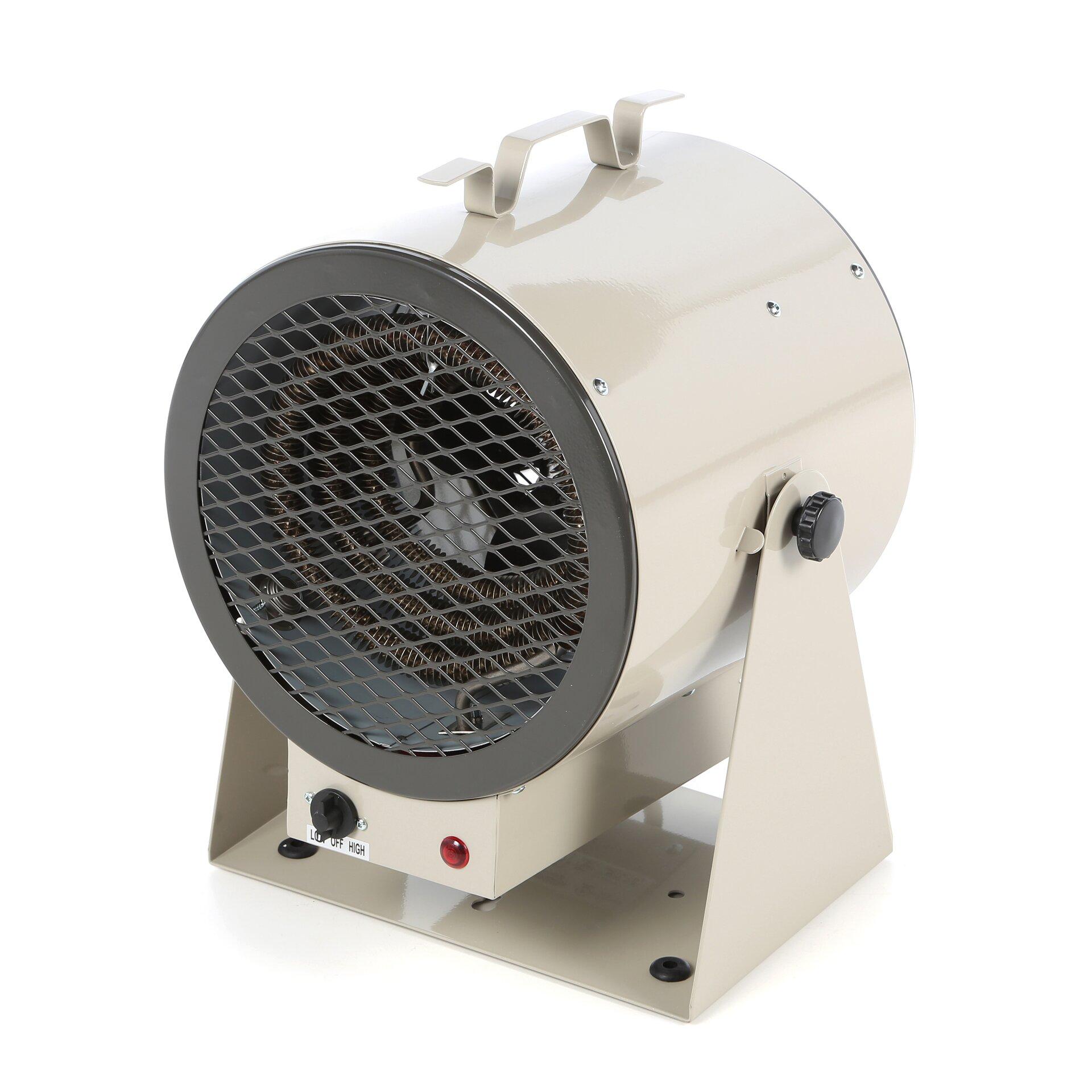5 Portable Fan : Tpi portable electric fan utility heater reviews wayfair