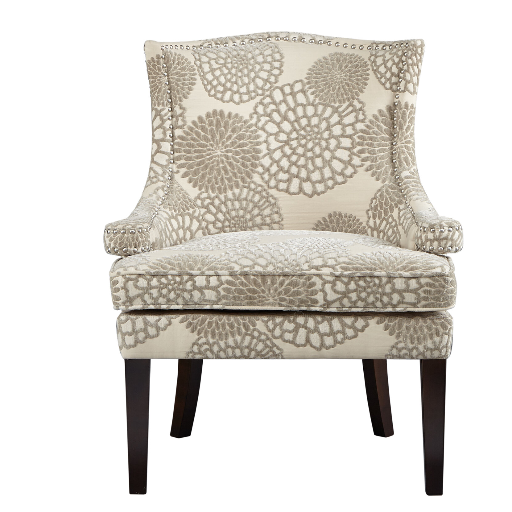 Madison Park Signature Floral Wingback Chair U0026 Reviews | Wayfair