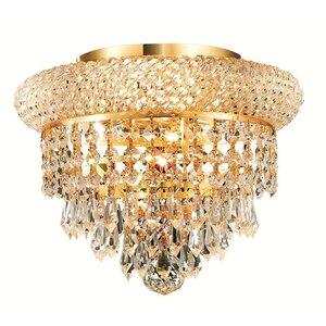 Jessenia 3-Light Crystal Shade Flush Mount