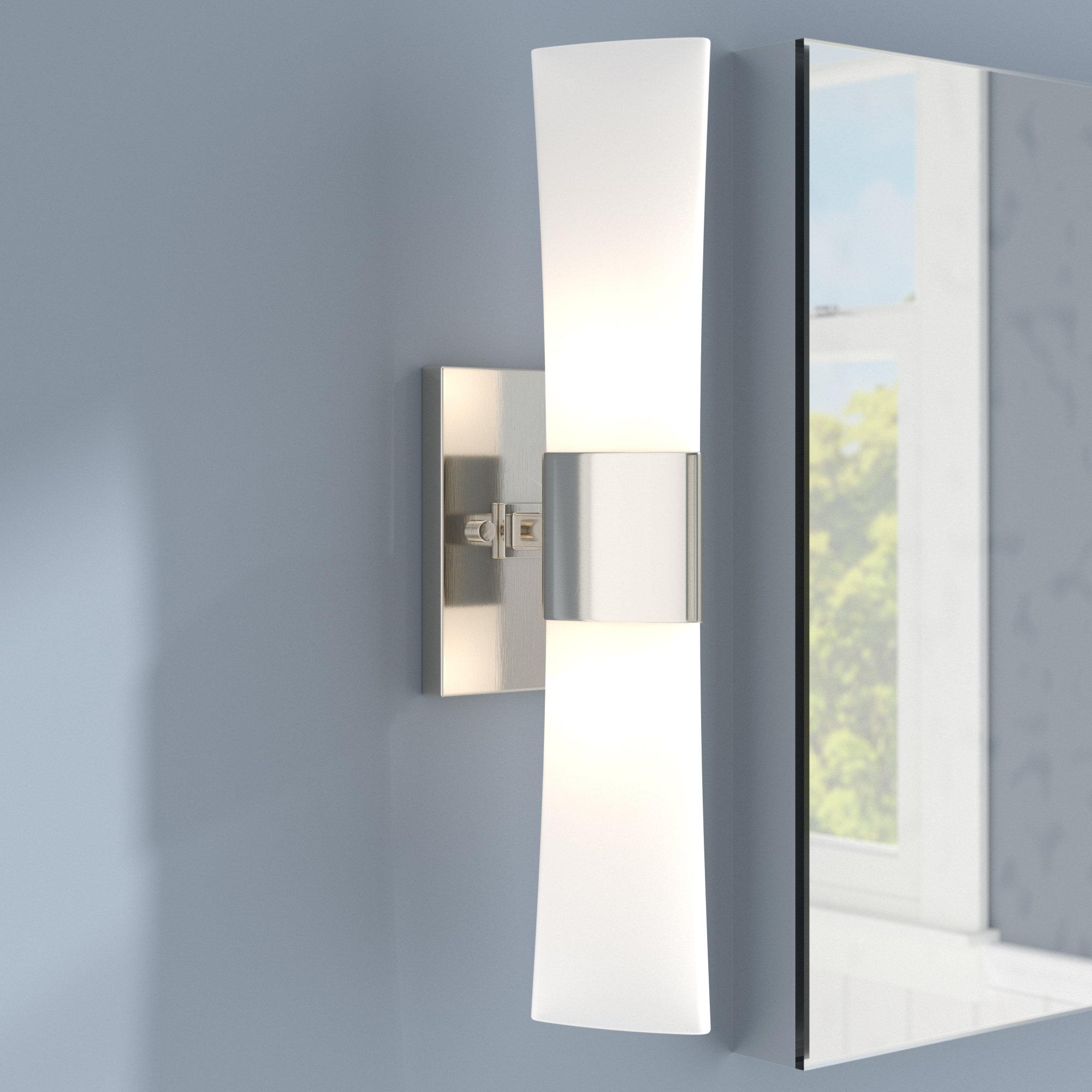 Ebern Designs Cheval 2-Light Bath Sconce & Reviews | Wayfair