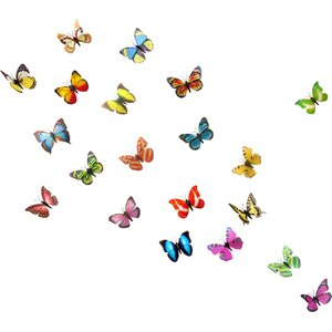 3D Shining Colourful Butterflies for Nursery Room Wall Sticker