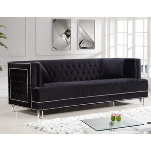 Black Velvet Sofas You\'ll Love | Wayfair