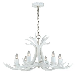 Antler lighting wayfair vail antler 6 light candle style chandelier mozeypictures Image collections